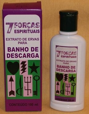 Magnetisch Parfumbad '7 Forças Espirituais'.